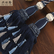 XWL New 1Pair Curtain Hanging Belts Ropes Fringe Window Curtain Accessories Strap Tieback Tassel Buckle Bandage Bind Home Decor