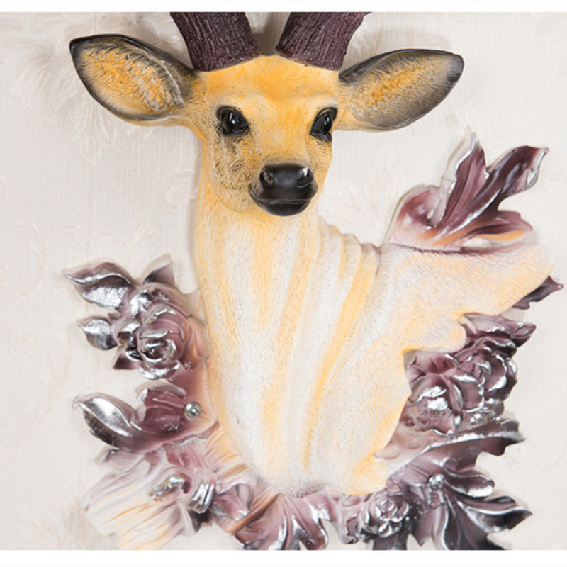 Europeia estilo do relógio sala de estar pendurado sino da cabeça dos cervos moda criativa relógio de quartzo Nordic arte decorativa relógio atmosférica - 3