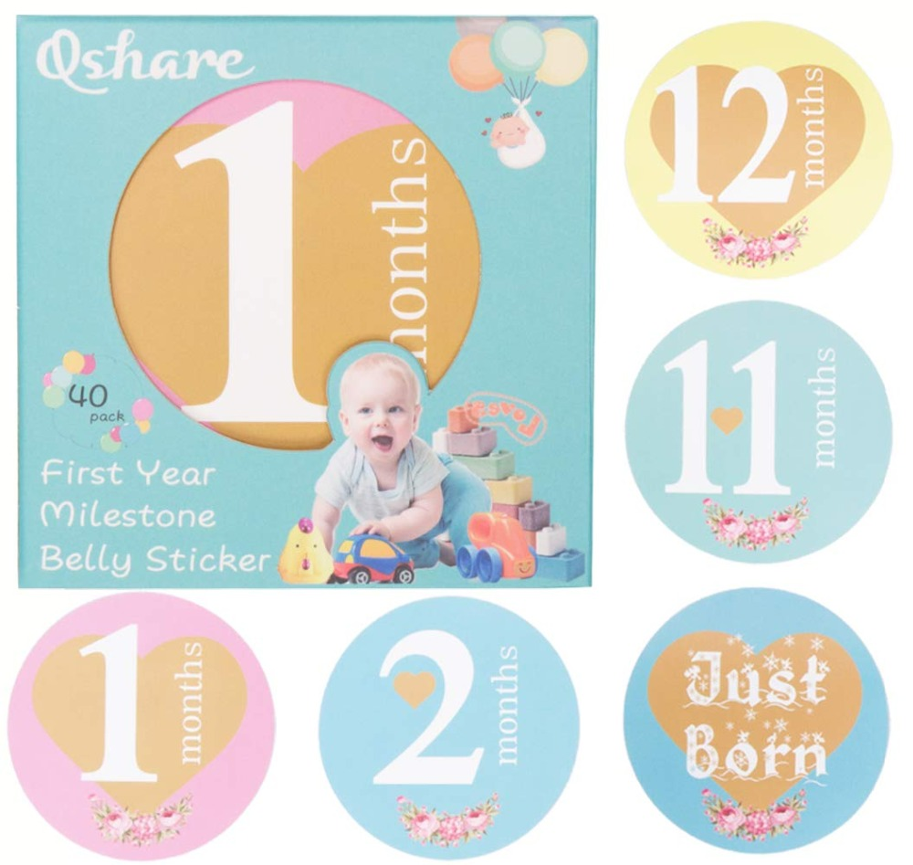 Qshare Baby Commemorative Clothing Decoration Props Photo Adhesive Sticker Baby Newborn Pregnant Women Photography Record