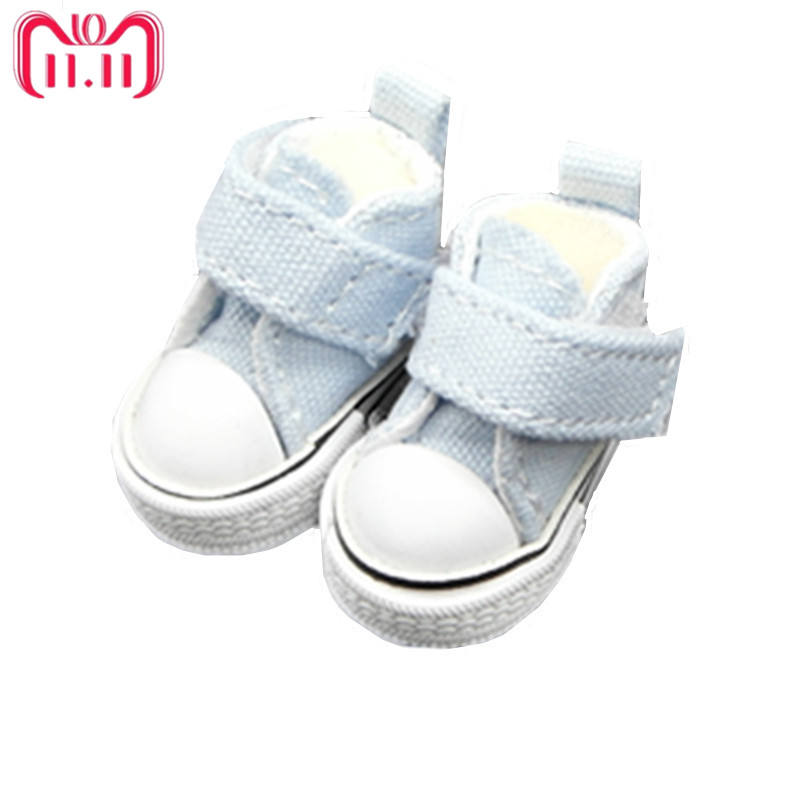Tilda 35cm Mini Doll Shoes For Blythe DollMini Toy Doll 16Canvas Sneakers Casual Shoes for BJD DollHigh Quality One Pair