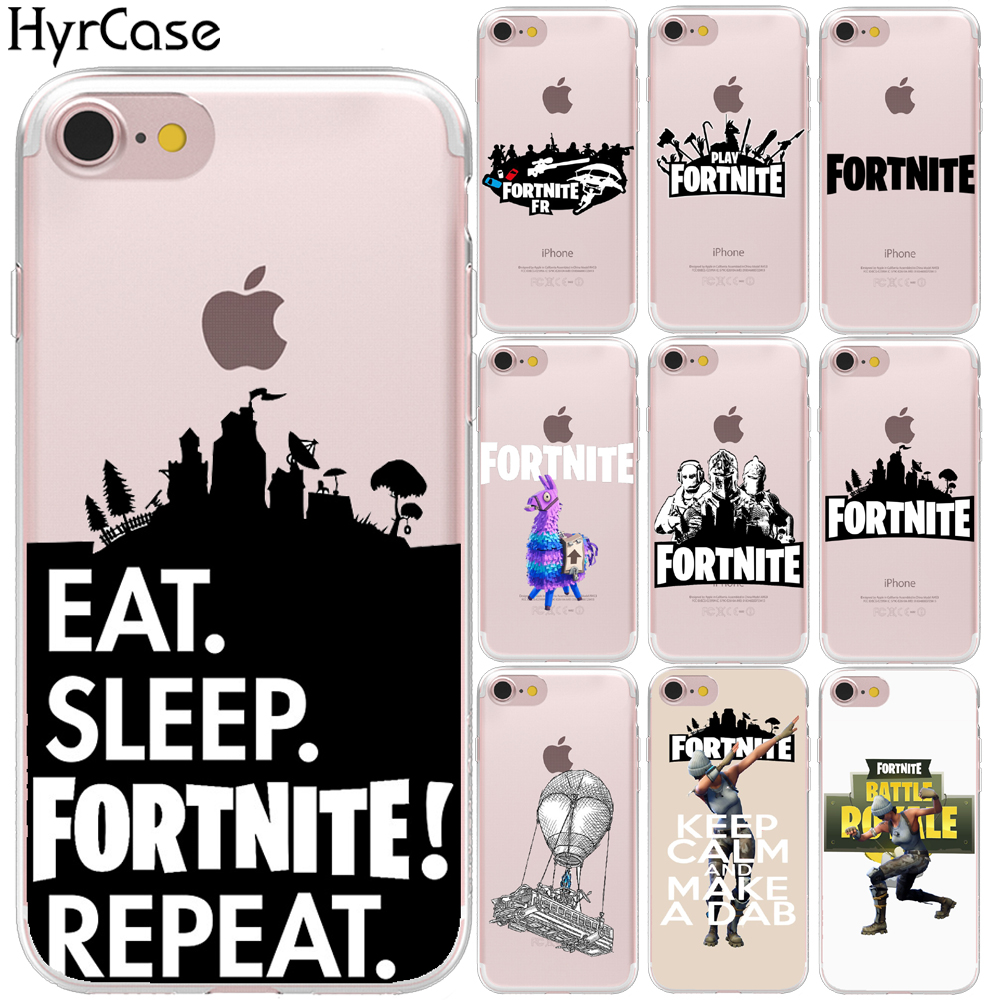 Battle Royale Fortnite Hard Plastic Phone Back Case Cover For Coque Apple iPhone 8 7 6 6S Plus X 5 5S SE