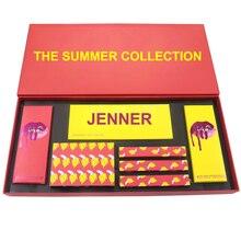 Jenner A Coleção de Verão Definir Pacote De Maquiagem Batom Matte Lip Gloss Maquiagem Sombra Paleta Paleta De Sombras Profesiona