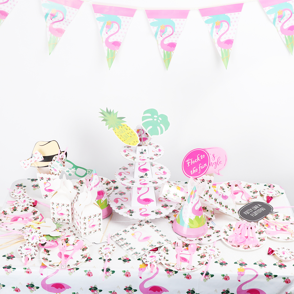 Us 105 12 Off14 Styles Flamingo Theme Birthday Party Decorations Summer Party Decor F Birthday Wedding Pool Party Decoration Supplies In Party Diy