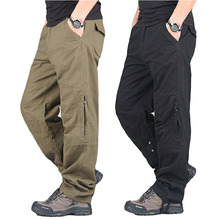 Spring Autumn Cargo Pants Men Streetwear Casual Military Trousers Army Warm Straight Chinos Pantalon Militaire