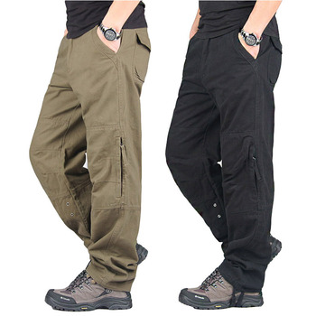 Spring Autumn Cargo Pants Men Streetwear Casual Military Trousers Men Army Warm Straight Men Chinos Pants Pantalon Militaire 2020 spring mens cargo pants khaki military men trousers casual cotton tactical pants men big size army pantalon militaire homme