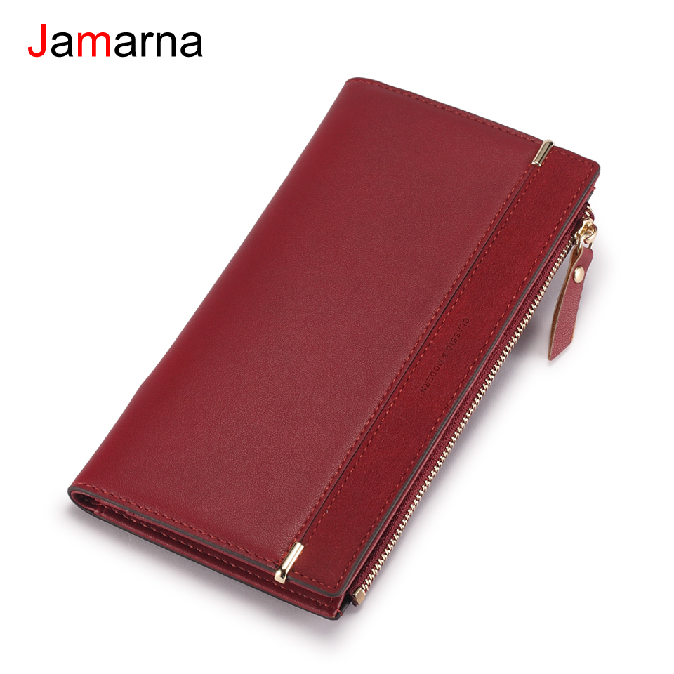Jamarna Women Wallets Wallet Female New Arrival Zipper Women Wallets Brand Design High Quality Pu Leather Clutch Classic Design