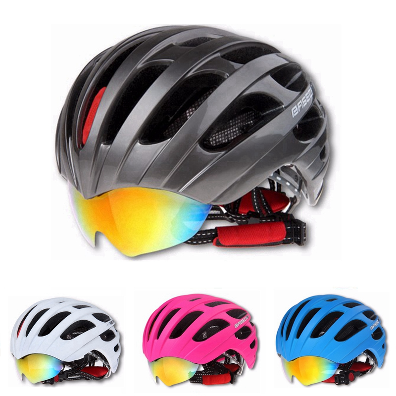 Basecamp New Arrival 5 Colors Insect Net MTB Bike Road Cycling Helmet 27 Vents Bicycle Ultralight Helmet & Goggles Design+3 LensBasecamp New Arrival 5 Colors Insect Net MTB Bike Road Cycling Helmet 27 Vents Bicycle Ultralight Helmet & Goggles Design+3 Lens
