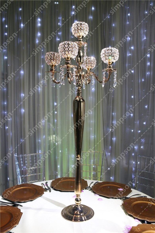 4 шт./партия Бесплатная доставка канделябр, украшение для середины стола хрустальный подсвечник 47 Ваза Свадебная высокая украшения для веч