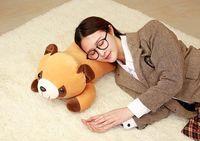 Stuffed Toy Large 65cm Cartoon Prone Raccoon Soft Plush Toy Throw Pillow Christmas Gift B0850