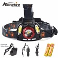 AloneFire HP94 T6 Adjustable T6+COB zoom LED Headlamp headlight Rechargeable Caming Hunting Head Light linternas+battery+charger