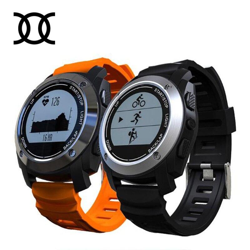 imágenes para Original S928 Tracker Temperatura Inteligente reloj Del Ritmo Cardíaco Deporte medida GPS Subir Ejecutar cálculo Paseo Gimnasio Rastreador Smartwatch