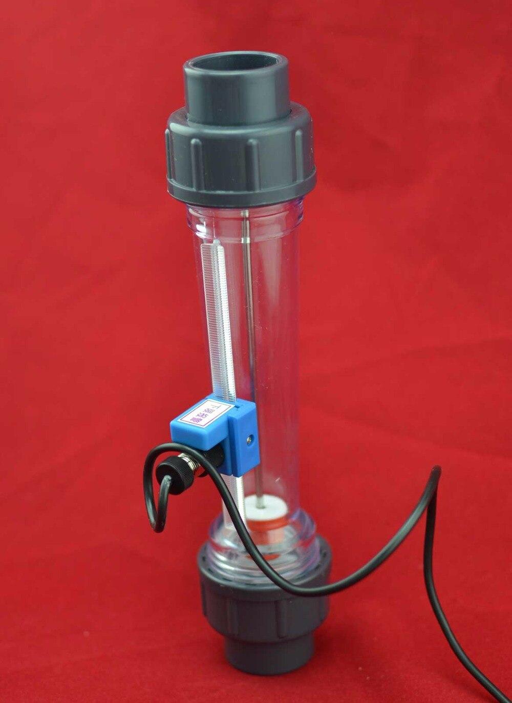 LZS-15A 10 à 100L/H ~ 1000L/H Pipeline tube en plastique rotamètre d'eau avec alarme de débit avec limite inférieure (par défaut) ou limite supérieure