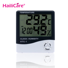 Baby Care Digital LCD Thermometer Time Alarm Weather Hygrometer Home Big Screen Electronic Humidity Baby Room Thermometer