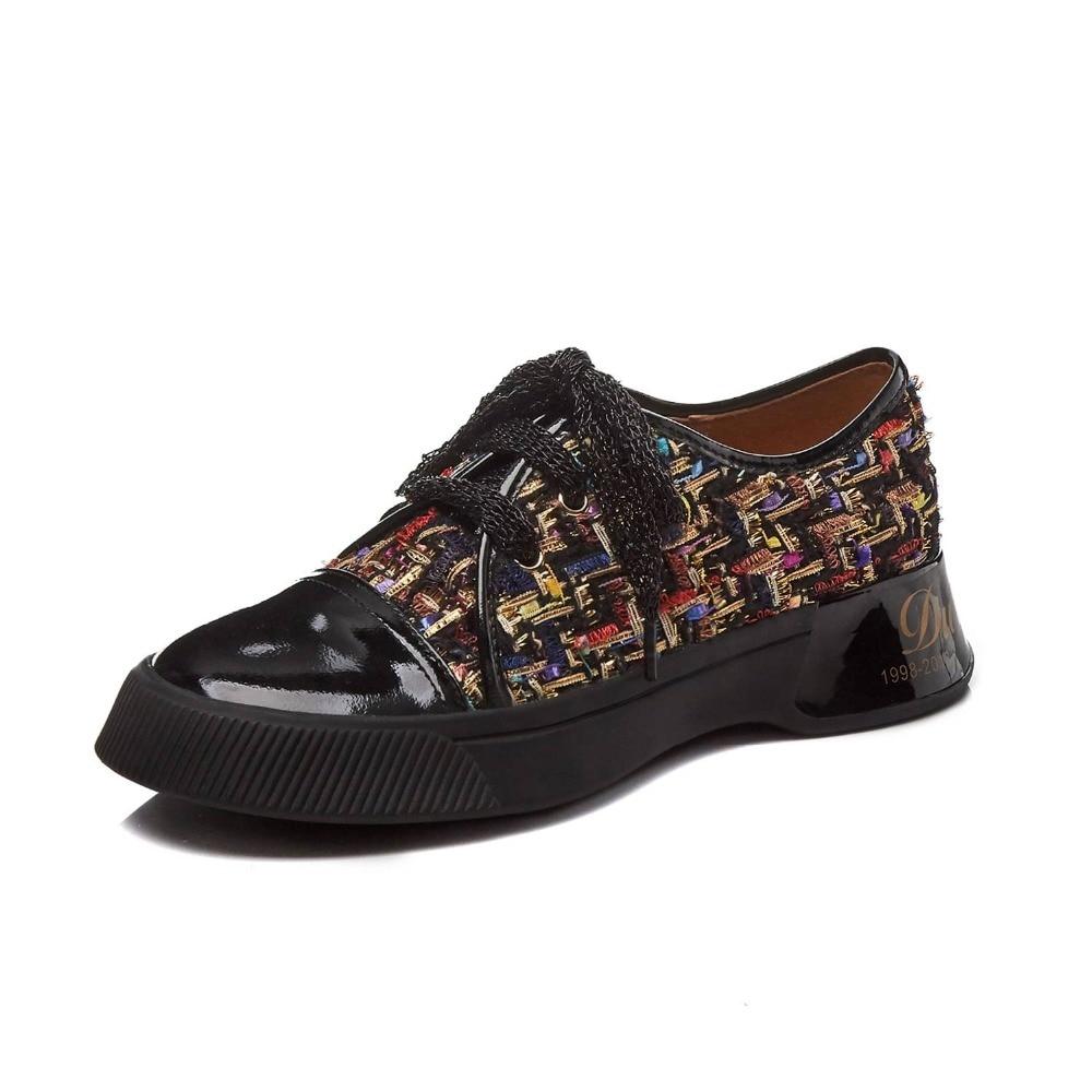 Krazing وعاء الفتيات الصغيرات الدانتيل يصل مختلط الألوان سميكة أسفل رياضية رائع الدانتيل يصل تنفس جولة اصبع القدم أحذية مفلكنة L17-في أحذية مطاطية نسائية من أحذية على  مجموعة 3