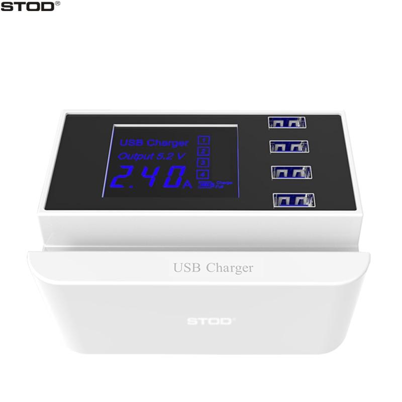 STOD 4 Port Smart USB Ladegerät LED Digital Display Telefonständer - Handy-Zubehör und Ersatzteile - Foto 1