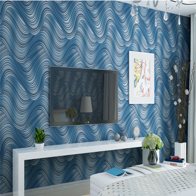 Best Home Decor Deep Embossed 3D Wall Paper Solid Pastoral Wood Fiber Wallpaper Roll For Living