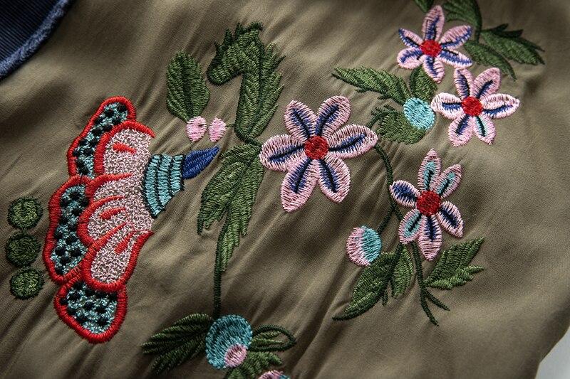 Kimono caftan brodé ouvert devant cravate taille Trench femmes plage Top contraste reliure été Long Trench manteaux Outwear - 6