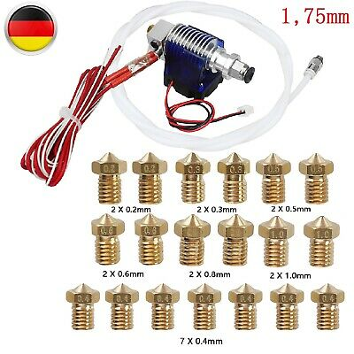 0.2-1.0mm 19x Nozzles Metal 12V Extruder Set For 1.75mm 3D Printer Hot End Head(China)