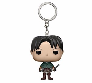 Image 2 - cartoon Attack On Titan Soldier Levi Keychain Doll Vinyl Figure Key Chain Toy Model For bag Decoration Gift withbox