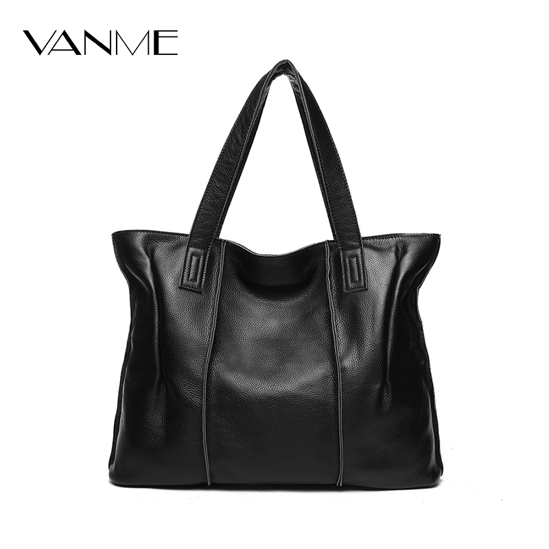 Casual Designer Female Genuine Leather Blue Ladies Tote Bag Fashion Large Soft Shoulder Bag Zipper Bag