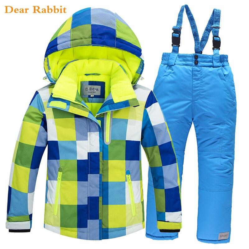 -30 Grad 2018 Kinder Ski Anzug Set Dicke Wasserdichte Teenager Mädchen Junge Kalt-proof Outdoor Kleidung Winddicht Winter Anzüge Kinder Einfach Zu Reparieren