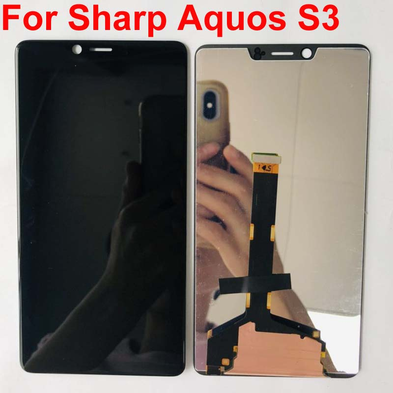 6 0 For Sharp Aquos S3 S3 high FS8032 2160x1080 LCD Display and Touch Screen Digitizer
