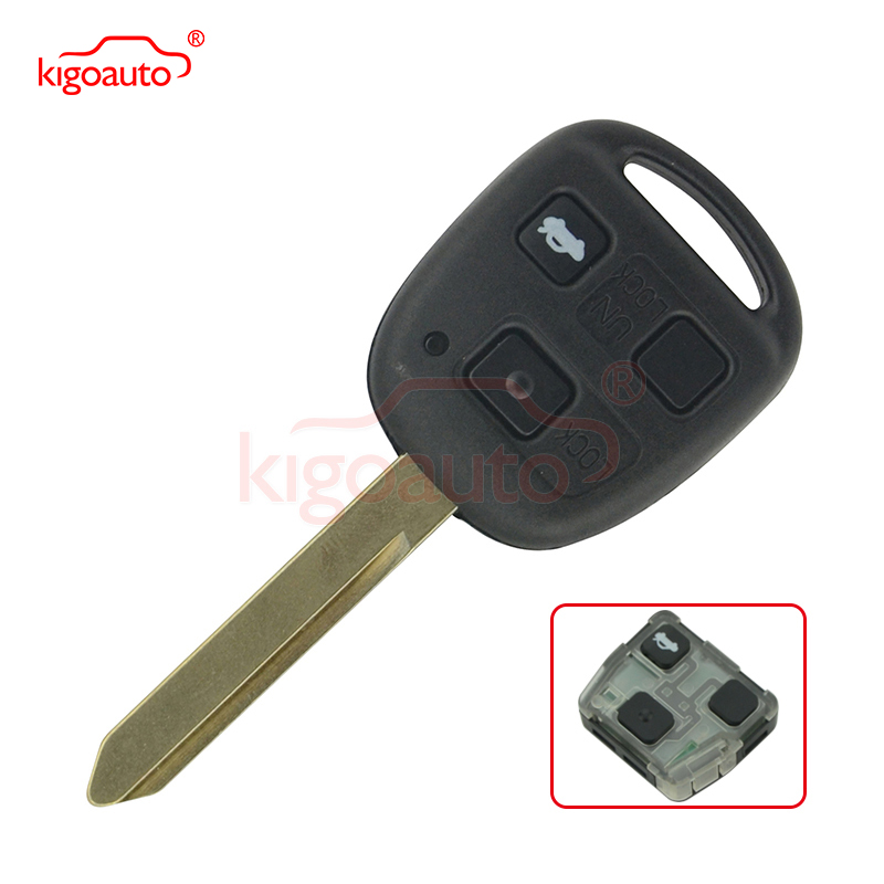 3 bouton 434 Mhz 4d 70 puce Toy47 clé à distance pour Toyota YARIS COROLLA AVENSIS CAMRY kigoauto