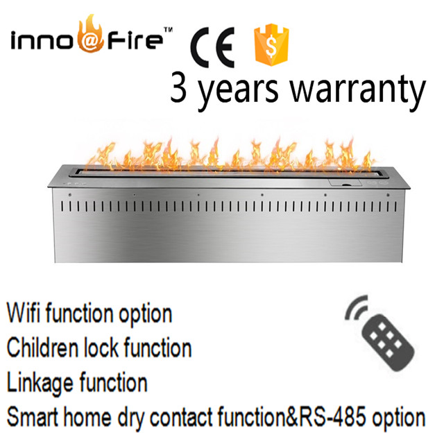 36 Inch Smart Silver Or Black Remote Control Intelligent Bio Ethanol Burner Remote