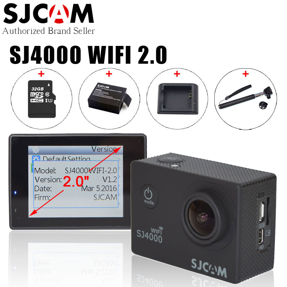 Instructions on how to set up a sjcam sj 4000 - Aliexpress Com Buy Original Sjcam Sj4000 Wifi 2 0 Inch New Action Video Camera 1080p Full Hd Waterproof 30m Diving Sj 4000 Outdoor Sport Camcorder From
