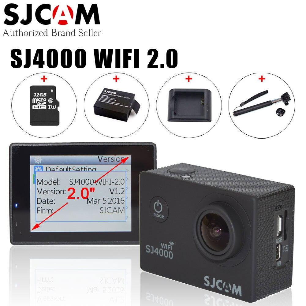 Original sjcam sj4000 wifi 2.0 pulgadas nueva acción cámara de vídeo 1080 P Full