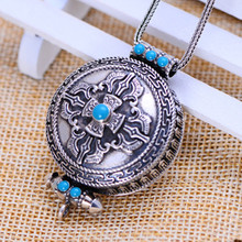 Thai silver sterling silver jewelry s925 retro Thai silver pendant pendant Vajra turquoise silver pendants female shipping недорого
