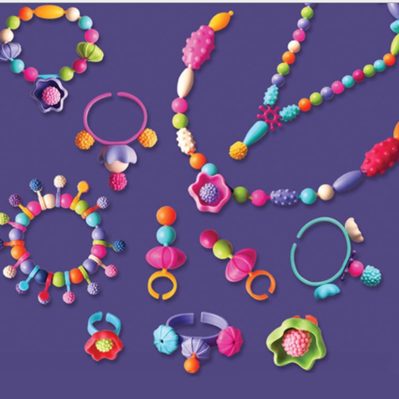 400pcs Pop Beads Toys Creativel Arts And Crafts For Kids Bracelet Snap Together Jewelry Fashion Kit Educational Toy For Children