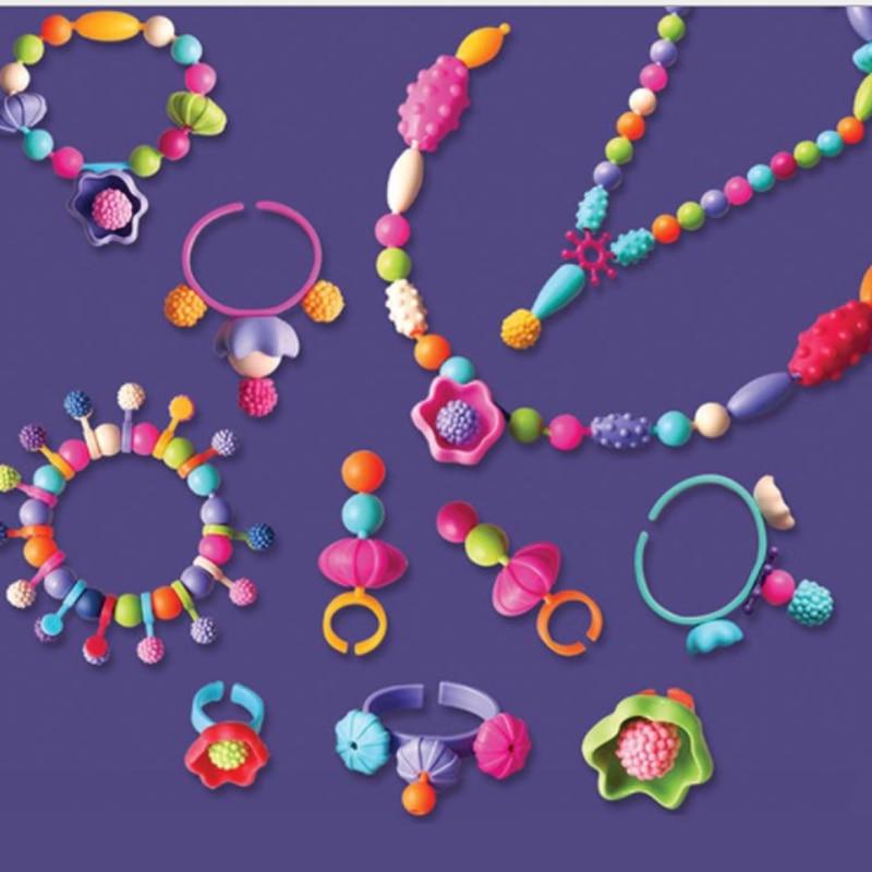 Набор обучающих игрушек для детей, 400 шт., поп-шариков, кнопки для браслета