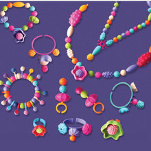 400pcs Pop Beads Toys Creativel Arts And Crafts For Kids Bracelet Snap Together Jewelry Fashion Kit Educational Toy For Children(China)