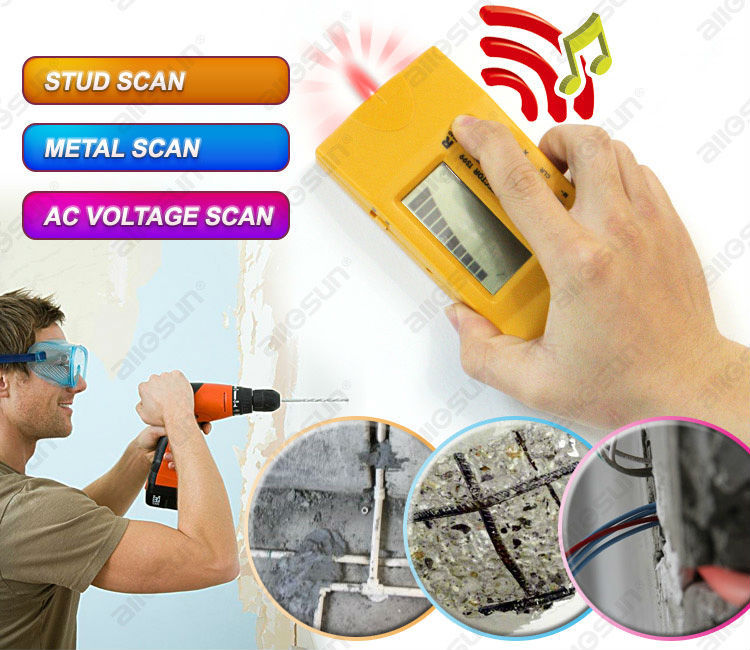 ALL SUN TS99 4 In 1 Detector Ultrasonic Household Detector Stud/Metal/Voltage/Distance Laser