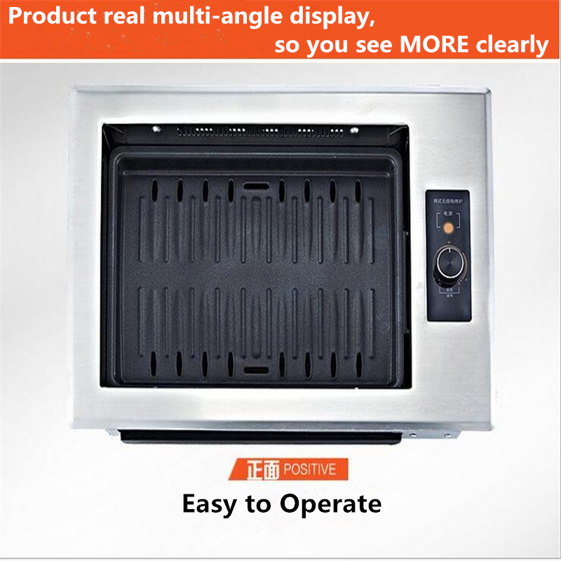 Smoke-Free Non-Stick Commercial Korean Infrared Electric Oven Korean Barbecue Grill On Paper