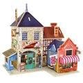 Multi-tipo de Construção 3D Puzzle Brinquedo Casa Castelo Edifício Puzzle Brinquedo infantil Brinquedo Educativo De Madeira Chalés