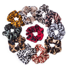 Rubber Band Soft For Women Winter Snake Print Ponytail Accessories Girls Hair Ring Headwear Hair Rope Female Velvet Scrunchie(China)