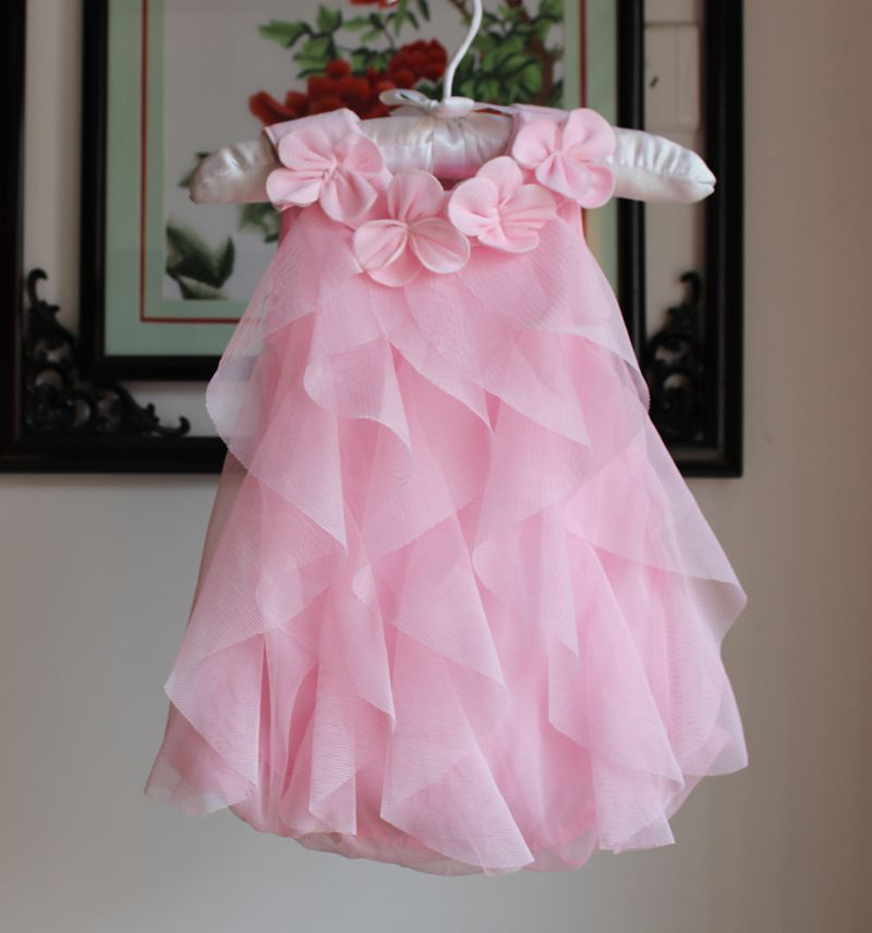 8cb0dbd554823 2018 Summer Girls Dress Toddler Girl Chiffon Birthday Party Dress Flowers  Kids Sleeveless Dresses Infant Baby Clothes