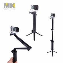 GoPro 3-Way Folding Arm Monopod + Tripod + Grip Super Portable Magic Mount Selfie Stick for GoPro SJ4000 SJ4000 Action Camera