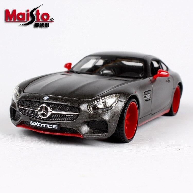1: 24 usine Maisto Mercedes AMG Gt modifié Simulation alliage voiture modèle voiture modèle ornements