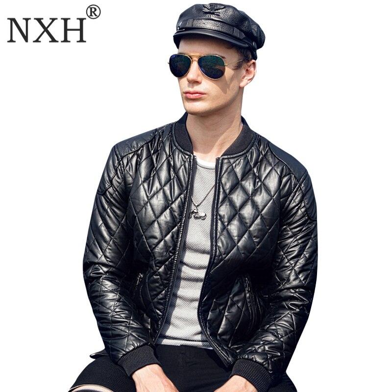 Argyle jaket men Casual Leather Jacket Slim Fit thick faux leather Baseball coat deri ceket jaqueta de couro chaqueta hombre