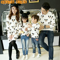 Family Matching Clothes Father Son Mother Daughter Sweatshirts Outfits Long Sleeve Fashion Cartoon Sweatshirts Clothes 1pc MW43