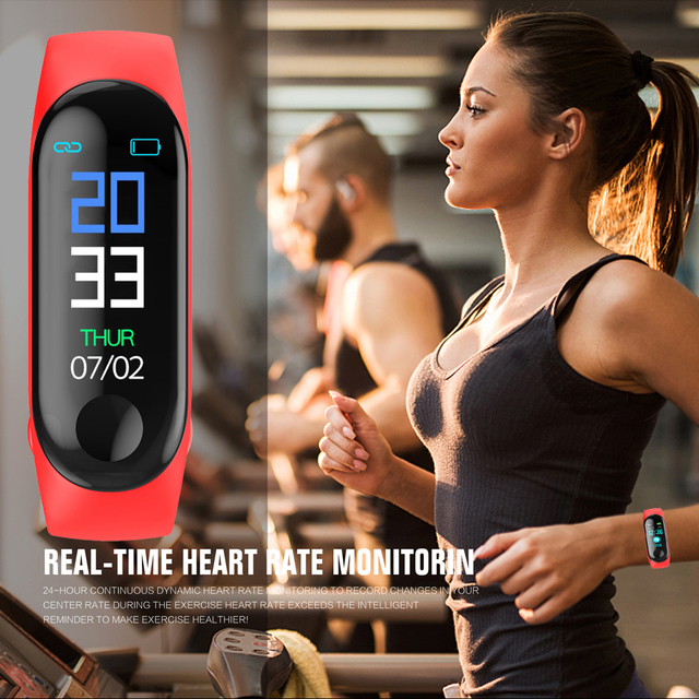 M3 Band Fitness pulsera presión arterial exterior IPS Pantalla de vida impermeable Monitor de ritmo cardíaco inteligente M3 pulseras PK Mi Band 3
