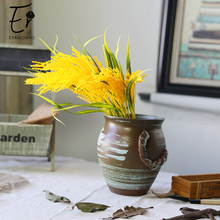 Erxiaobao Fake Food Ripe Paddy Artificial Rice Yellow Plant Home Decoration Accessories farmhouse Fall Decor