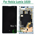 For Nokia Lumia 1020 LCD Display with Touch Screen Digitizer Assembly with frame Replacement Parts Black color