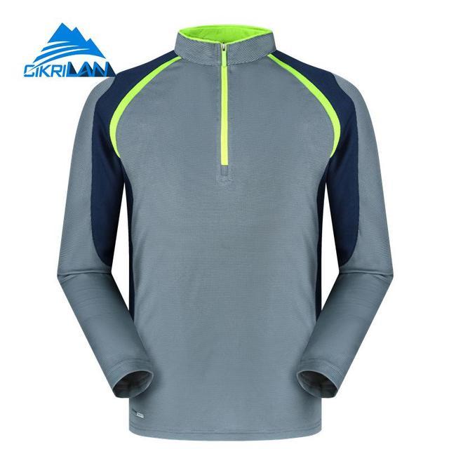 596896683cd2 Hot Mens 1 4 Zip Quick Dry Wicking Long Sleeve Outdoor T Shirt Sport Fishing