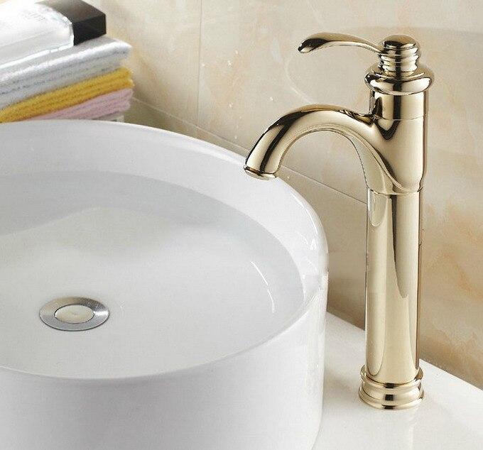 Single Handle Bathroom Faucet Luxury Golden Brass Vanity Basin Hot & Cold Mixer Tap Cgf059Single Handle Bathroom Faucet Luxury Golden Brass Vanity Basin Hot & Cold Mixer Tap Cgf059