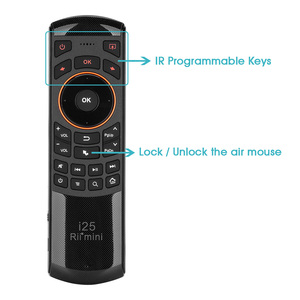 Image 3 - Original 3 in 1 Rii i25 2.4G Mini Wirless Air Mouse Keyboard With IR Remote Control PC Teclado For Tablet Smart Android TV Box