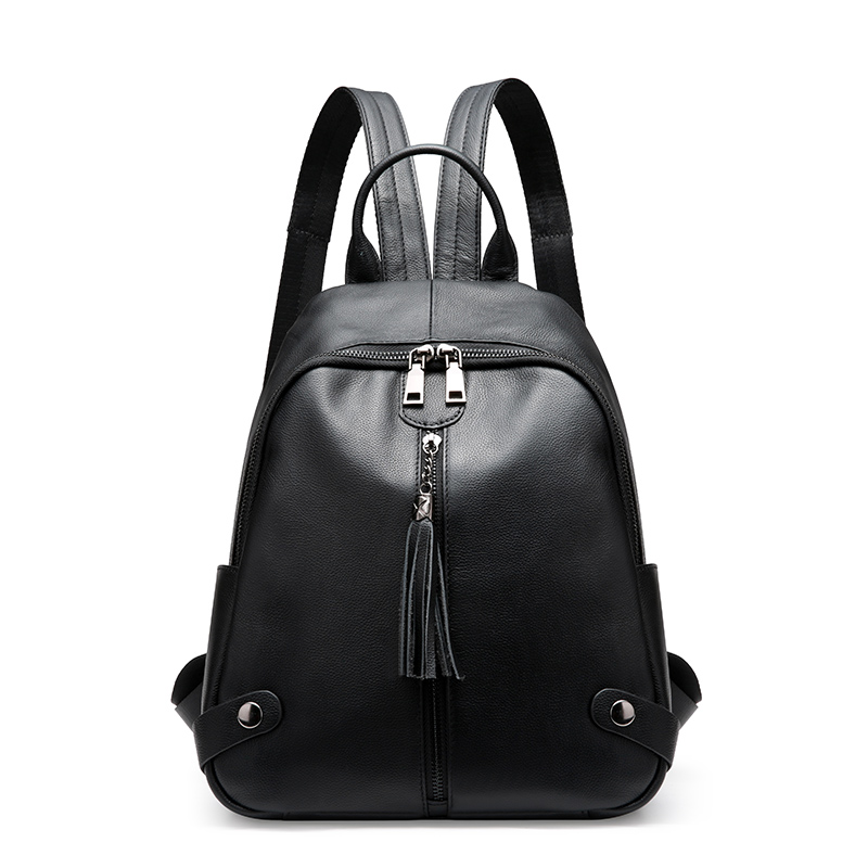 Ms. new leather backpack First layer leather tide leisure Japan and South Korea version of the wild fringed handbags the new spring and summer ms south korea ensure their boots comfortable show female water thin antiskid tall canister shoe